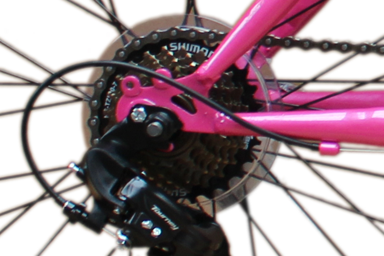 24 zoll mountainbike 21gang shimano kinder fahrrad beleuchtung federung rosa ebay. Black Bedroom Furniture Sets. Home Design Ideas